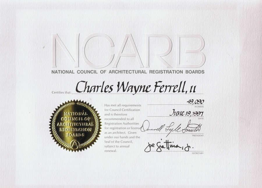 Architect restaurant for Ncarb